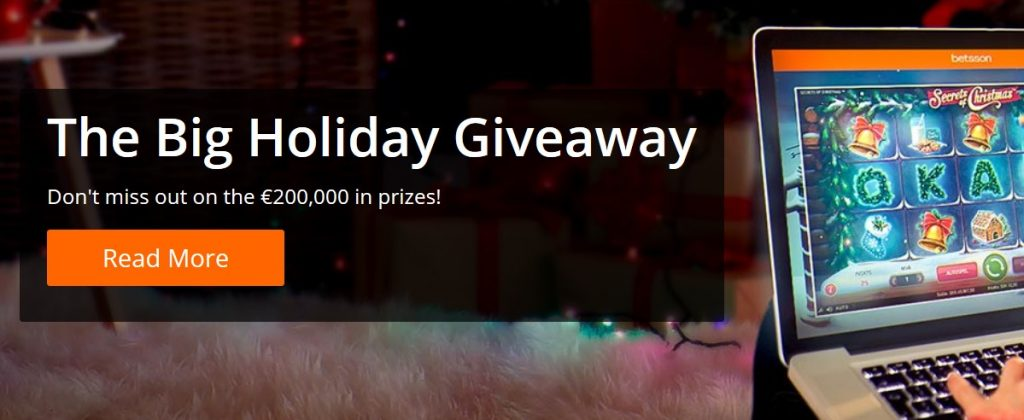 Big Holiday Giveaway Betsson Casino
