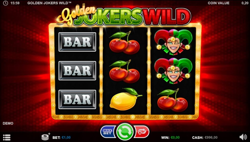 Golden Jokers Wild slot Betsson Casino