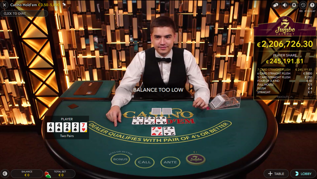 Live Casino Hold'em Royal Panda