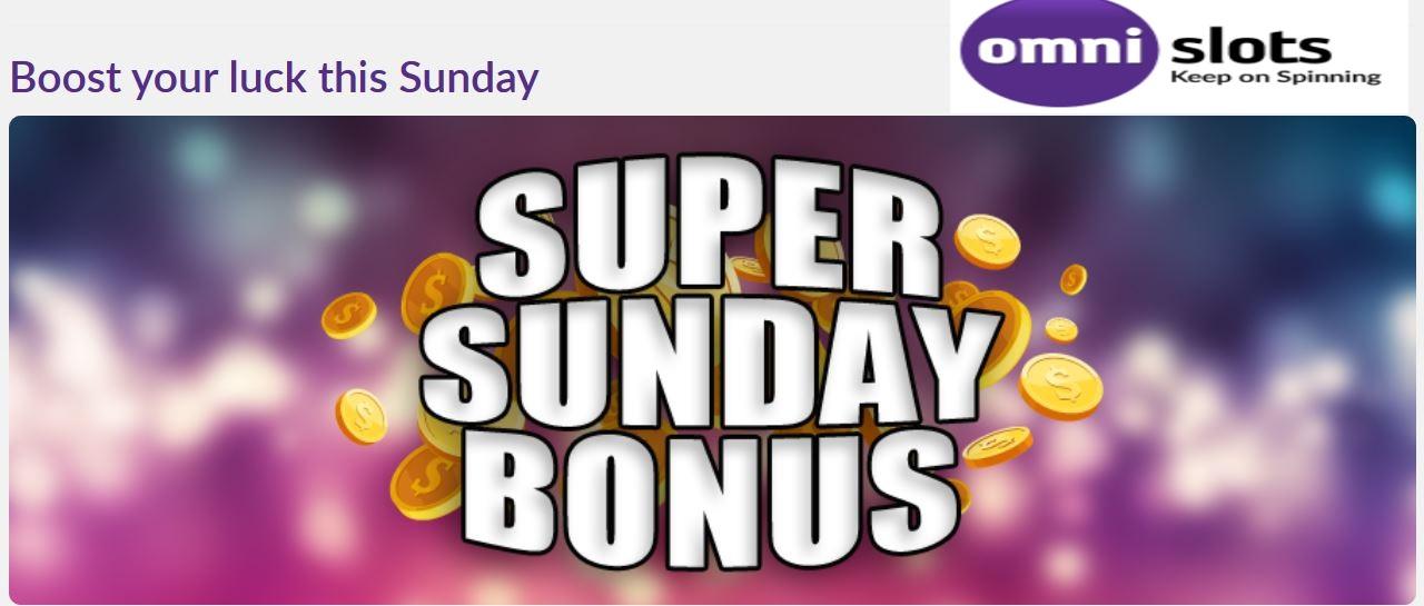 zondag bonus promo omnislots