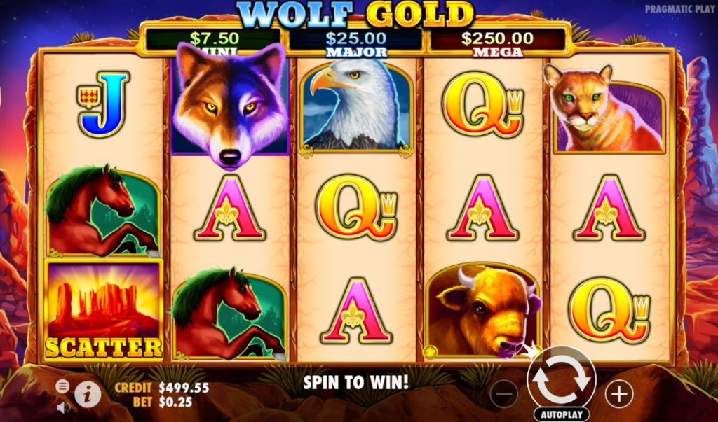Wolf Gold Spinia Casino